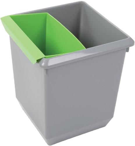 Inzetbak voor vierkante tapse papierbak groen-3