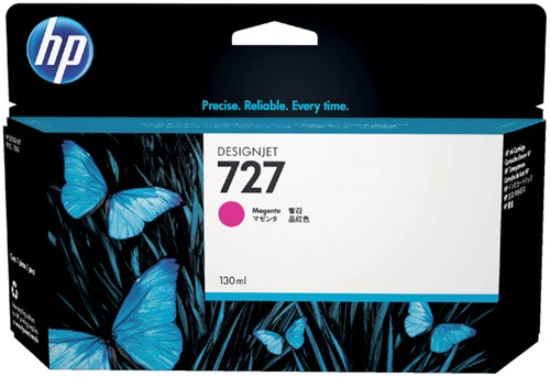 Inktcartridge HP B3P20A 130ml 727 rood