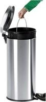 Afvalbak pedaalemmer RVS mat rond 12 liter-2