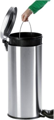 Afvalbak pedaalemmer RVS mat rond 5 liter-2