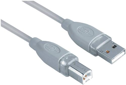 Kabel Hama USB 2.0 A-B 300cm grijs bulkverpakking