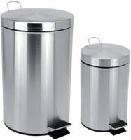 Afvalbak pedaalemmer RVS mat rond 3 liter-2