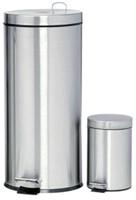 Afvalbak pedaalemmer RVS mat rond 30 liter-2