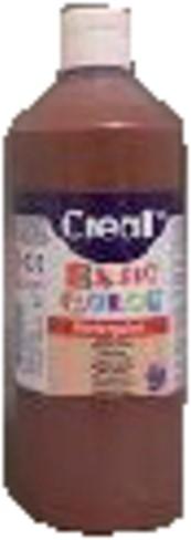 Plakkaatverf Creall basic 19 donkerbruin 500ml