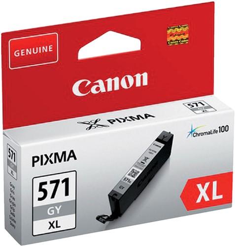 Inktcartridge Canon CLI-571XL HC grijs