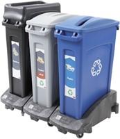 Afvalbakdeksel Slim Jim blauw voor papier-3