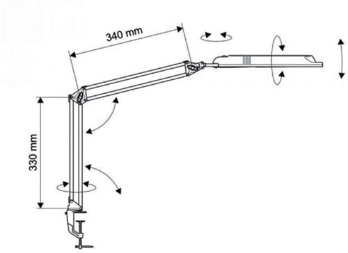 Bureaulamp MAULatlantic ledlamp met klem zwart-2