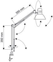 Spaarlamp MAULstudy met spaarlamp en klem zilver-2