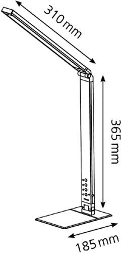 Bureaulamp Hansa ledlamp Magic zwart-2