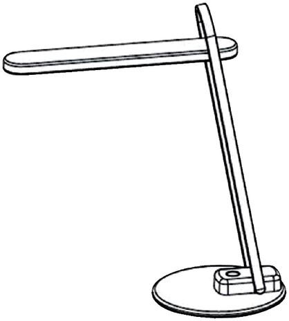 Bureaulamp Hansa ledlamp Firenze zwart-2