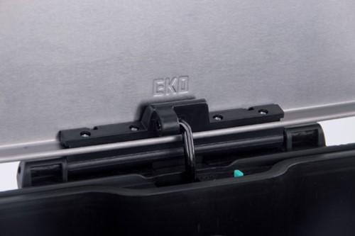 Afvalbak pedaalemmer E-Cube RVS mat rechthoekig 40liter-2