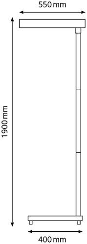 Vloerlamp Hansa led Maxlight aluminium-2