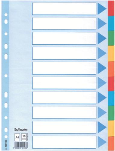 Tabbladen Esselte A4 11R karton 10-delig met voorblad