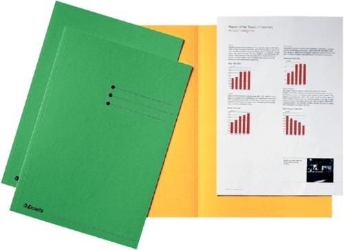 Inlegmap Esselte 180gr karton groen