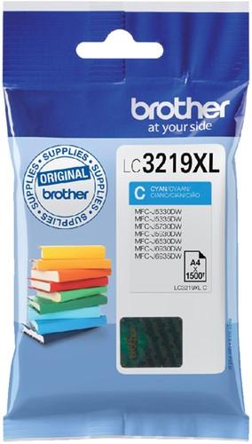 Inktcartridge Brother LC-3219XLC blauw HC