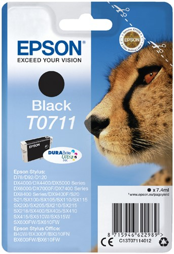 Inktcartridge Epson T0711 zwart