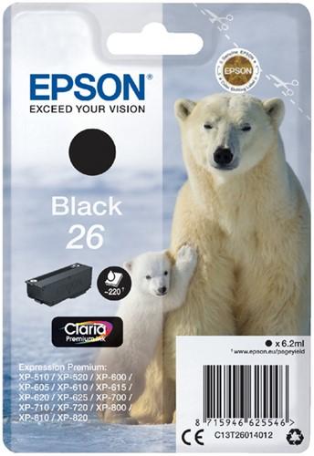Inktcartridge Epson 26 T2601 zwart