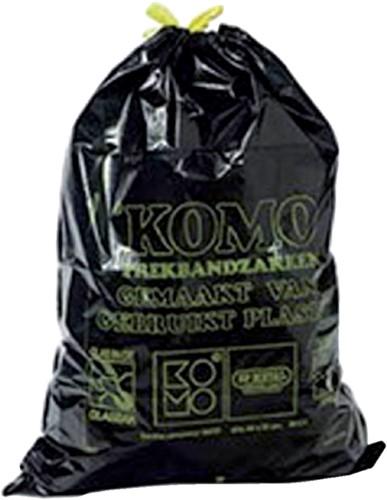 Vuilniszak Komo 60l met trekband 15 stuks op rol-2