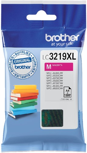 Inktcartridge Brother LC-3219XLM rood HC