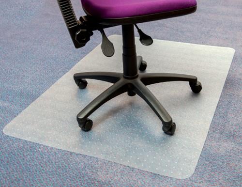 Stoelmat Floortex PVC 120x90cm voor zachte vloeren retailpak-2