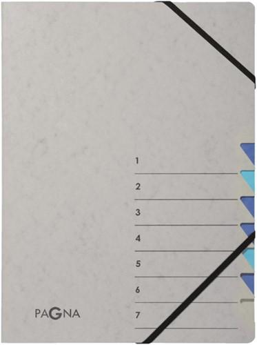 Sorteermap Pagna Easy 7 tabs A4 grijs