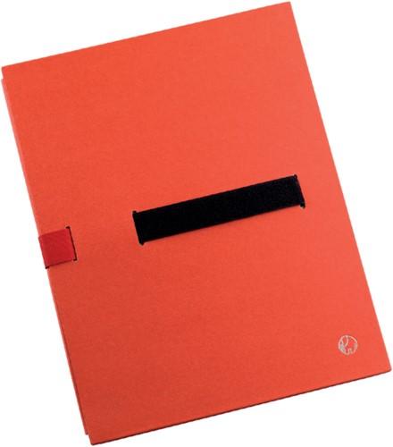 Bulkmap Jalema met klittenbandsluiting rood