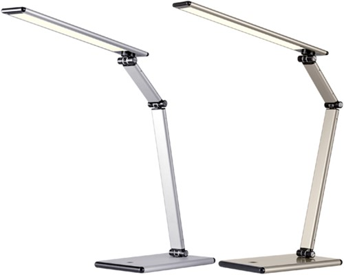 Bureaulamp Hansa led Slim zilvergrijs-2
