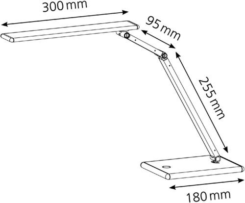 Bureaulamp Hansa led Slim goudkleurig-2