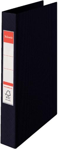Ringband Esselte A4 23-rings O-mech 25mm karton zwart