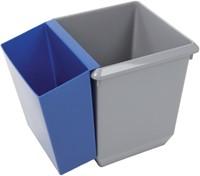 Papierbak kunststof vierkant taps 21liter grijs-3