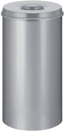Papierbak met vlamdover Vepabins 50liter 33.5cm lichtgrijs