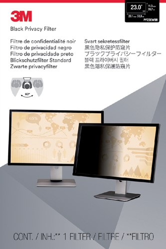 "Privacy filter 3M 23"" breedbeeld 16:9"