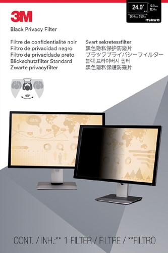 "Privacy filter 3M 24"" breedbeeld 16:10"