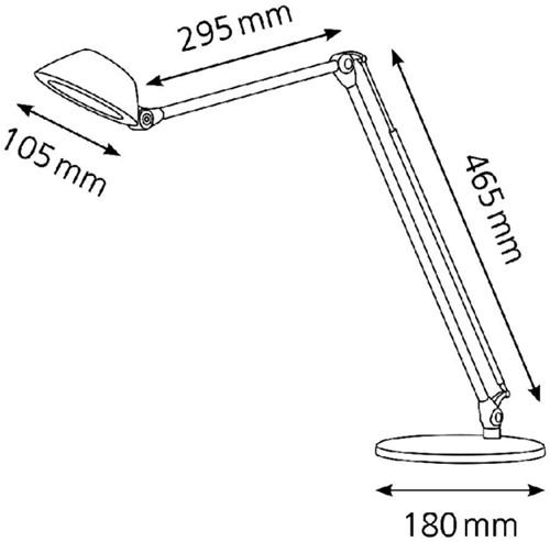 Bureaulamp Hansa ledlamp Blossom aluminium-2
