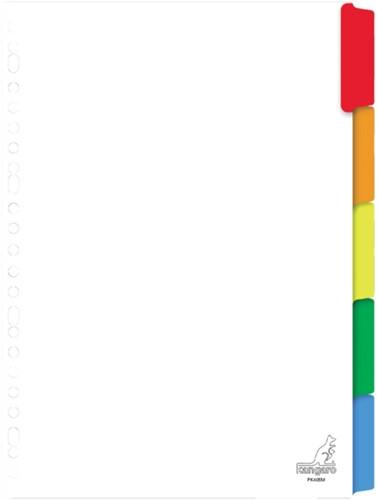 Tabbladen Kangaro 23-gaats PK405M 5-delig wit karton