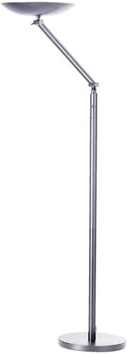 Vloerlamp Unilux Varialux zilvergrijs