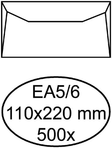 Envelop Hermes bank EA5/6 110x220mm gegomd wit
