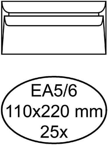 Envelop Quantore bank EA5/6 110x220mm zelfklevend wit 25stuk
