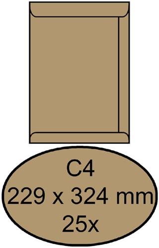Envelop Clevermail akte C4 229x324mm 90gr bruin 25 stuks