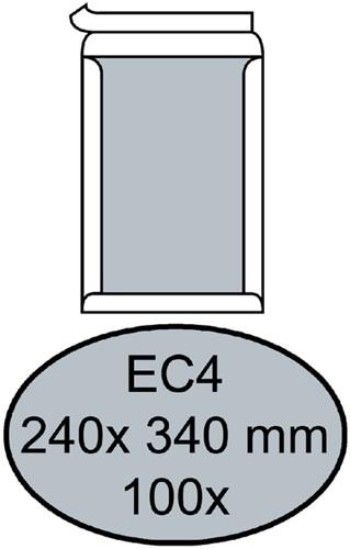 Envelop Quantore bordrug EC4 240x340mm zelfkl. wit 100stuks