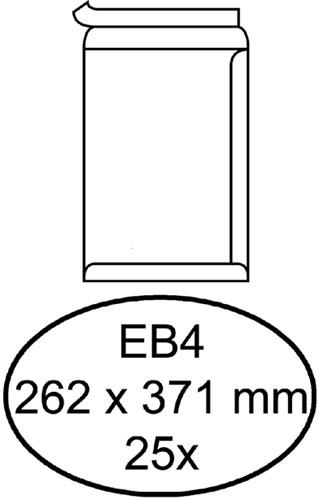 Envelop Hermes akte EB4 262x371mm zelfklevend wit 25stuks
