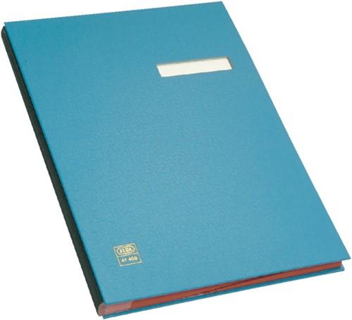 Vloeiboek Elba 20 vakken blauw