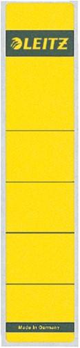 Rugetiket Leitz smal/kort 39x192mm zelfklevend geel