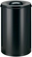 Papierbak met vlamdover Vepabins 110liter 45cm zwart-3