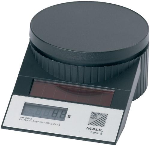 Briefweger MAUL Tronic solar tot 2000 gram zwart