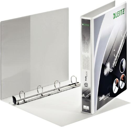 Presentatieringband Leitz SoftClick A4 Maxi 4-rings D-mech 20mm wit