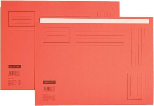 Vouwmap Quantore Folio ongelijke zijde 230gr rood