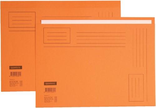 Vouwmap Quantore Folio ongelijke zijde 230gr oranje