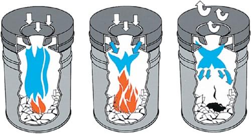 Papierbak met vlamdover Vepabins 50liter 33.5cm lichtgrijs-2