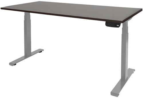 Elektrisch verstelbaar zit/sta bureau - 140x80 - Logan eiken - Aluminium